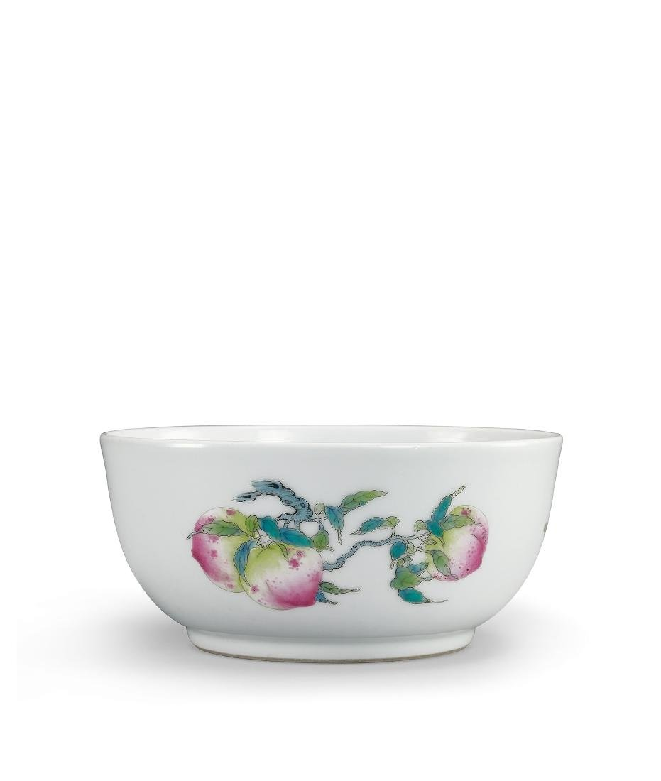 A Famille-Rose 'Sanduo' Bowl Mark and Period of