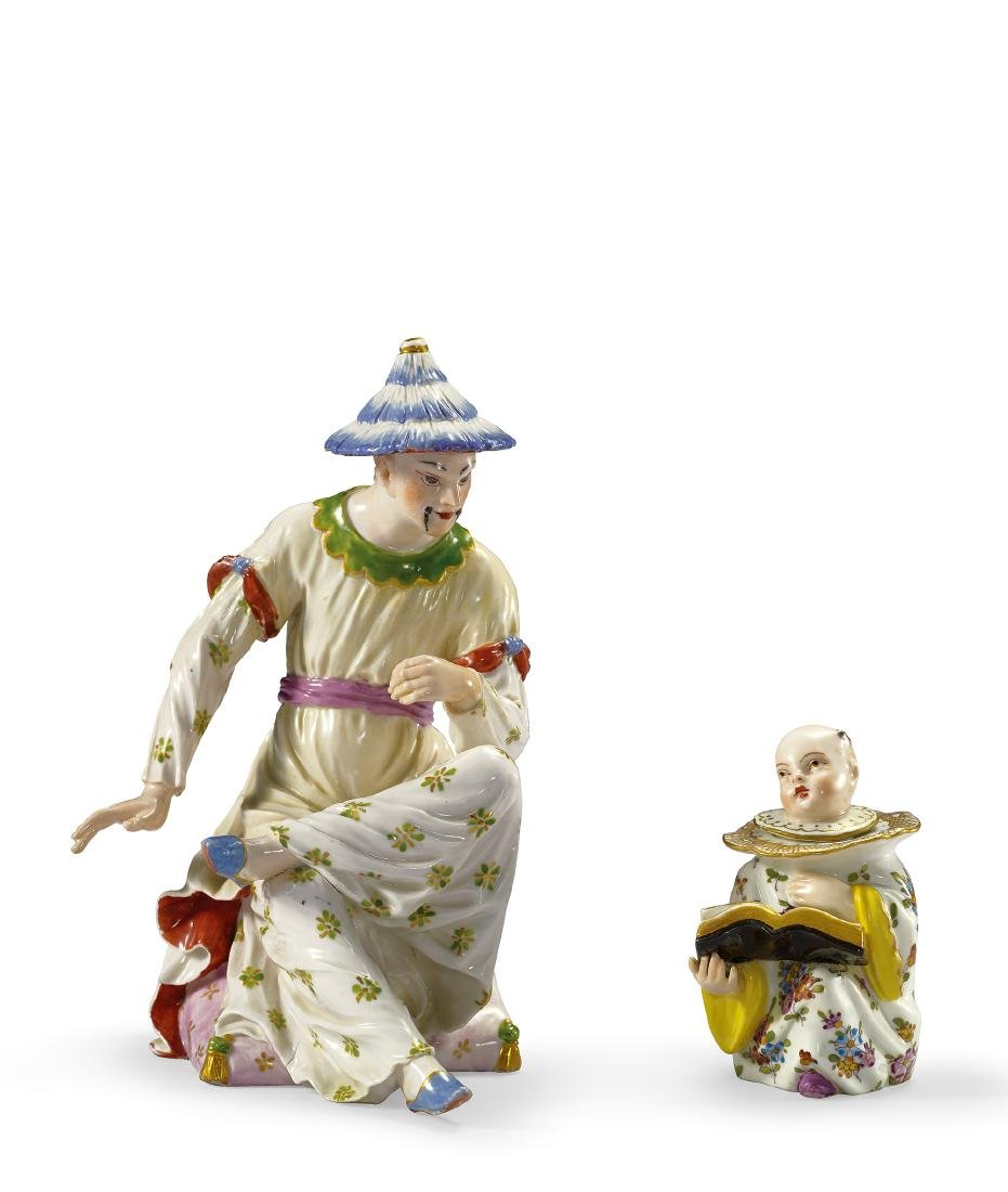 A Set of Two Famille-Rose Figures 19th Century