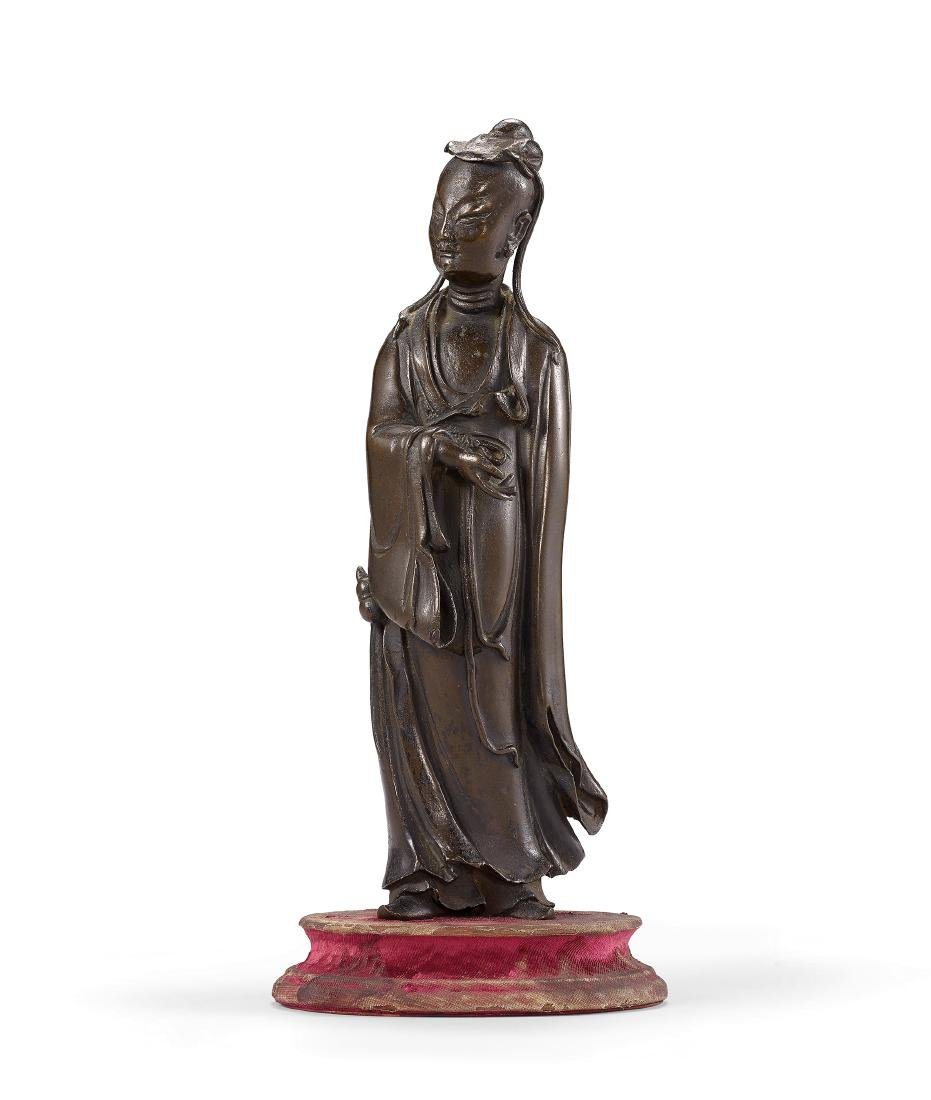 A Bronze Figure of a Scholar Qing Dynasty