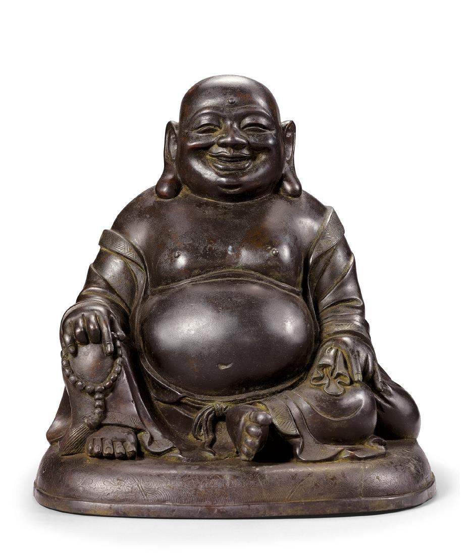 A Bronze Figure of Mile Buddha 17th Century
