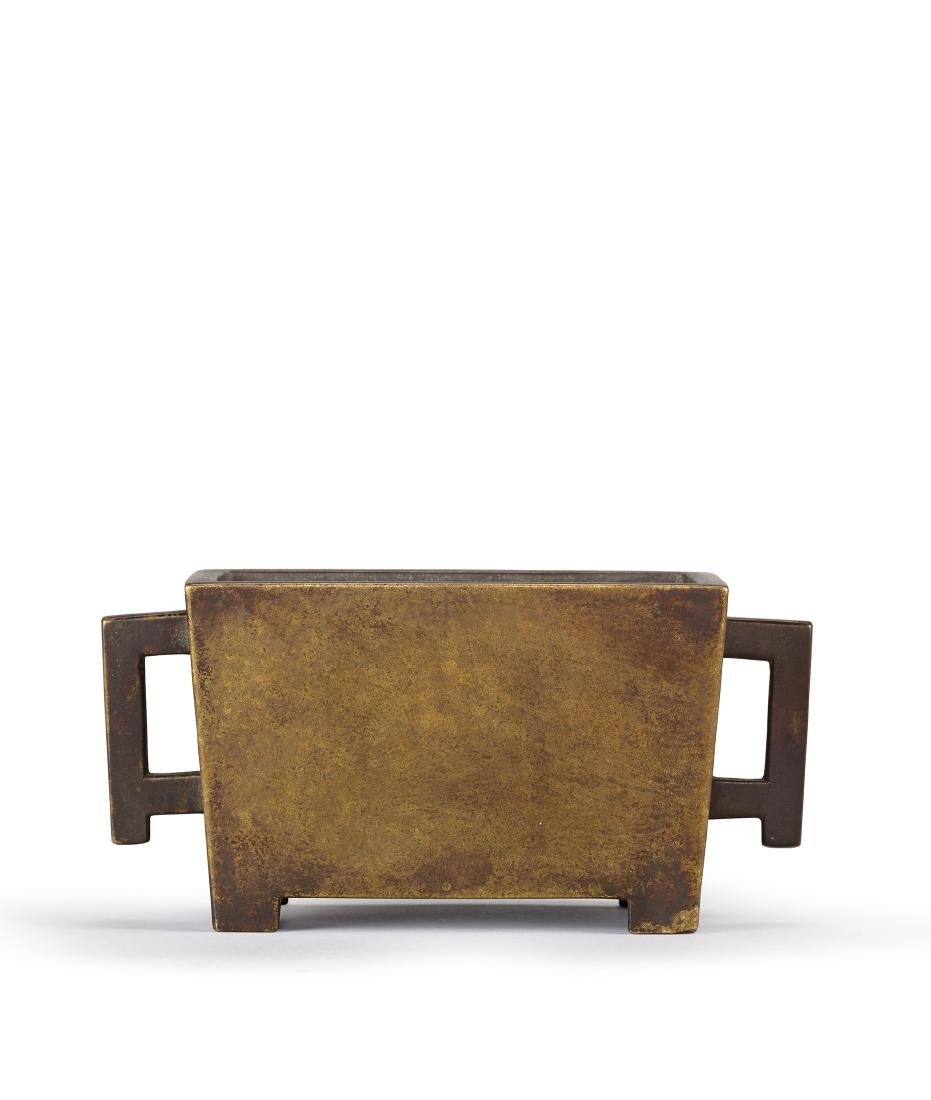 A Bronze Rectangular Censer 17th Century