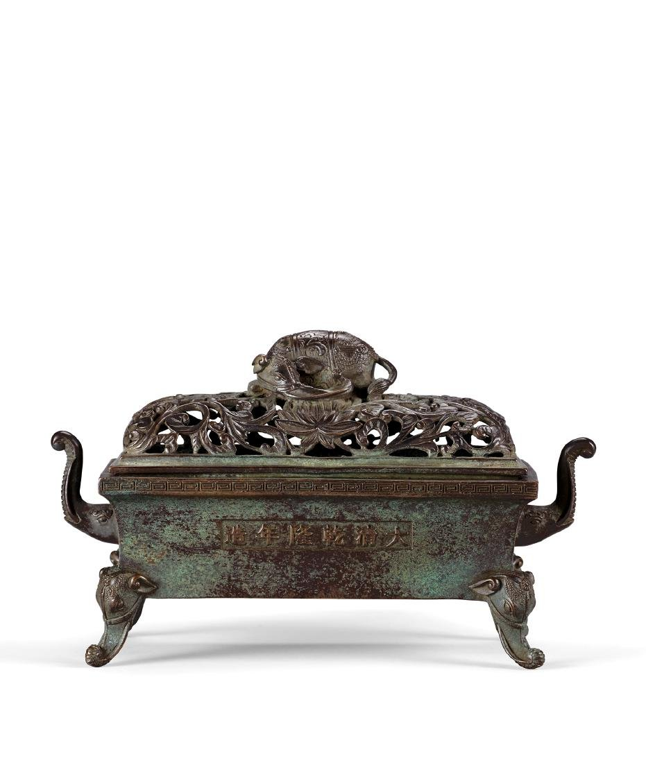 A Bronze 'Elephant' Censer Mark and Period of