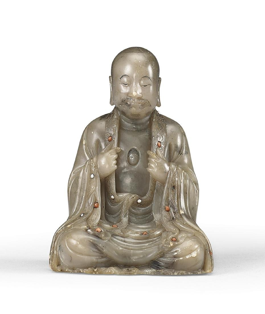 A Soapstone Figure of Luohan 17th / 18th Century