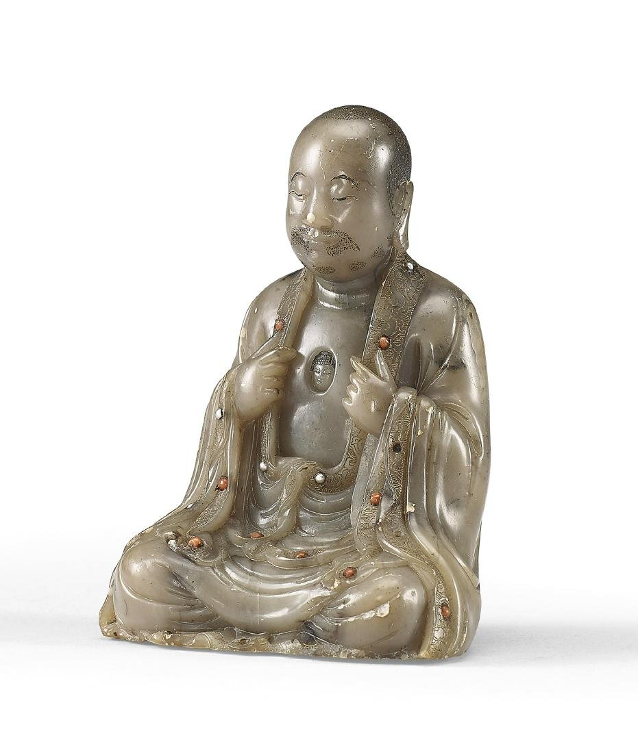 A Soapstone Figure of Luohan 17th / 18th Century - 2