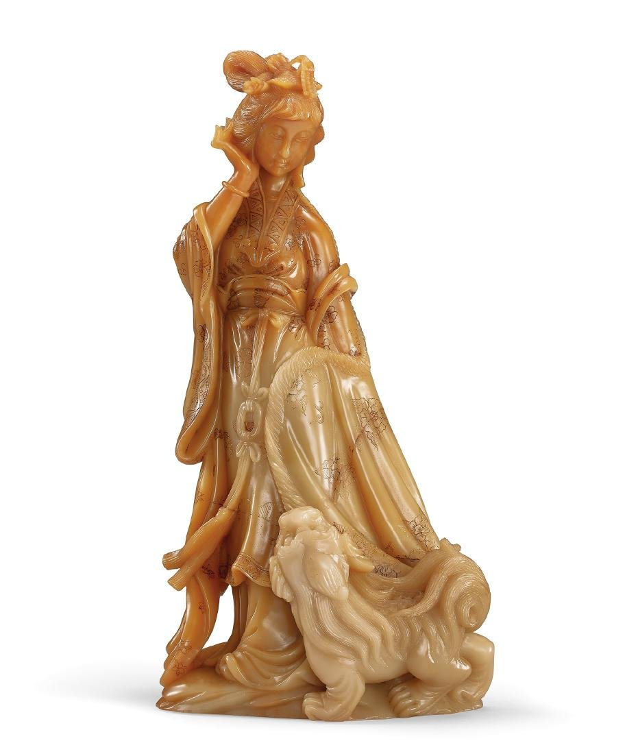 A Soapstone 'Lady' Ornament