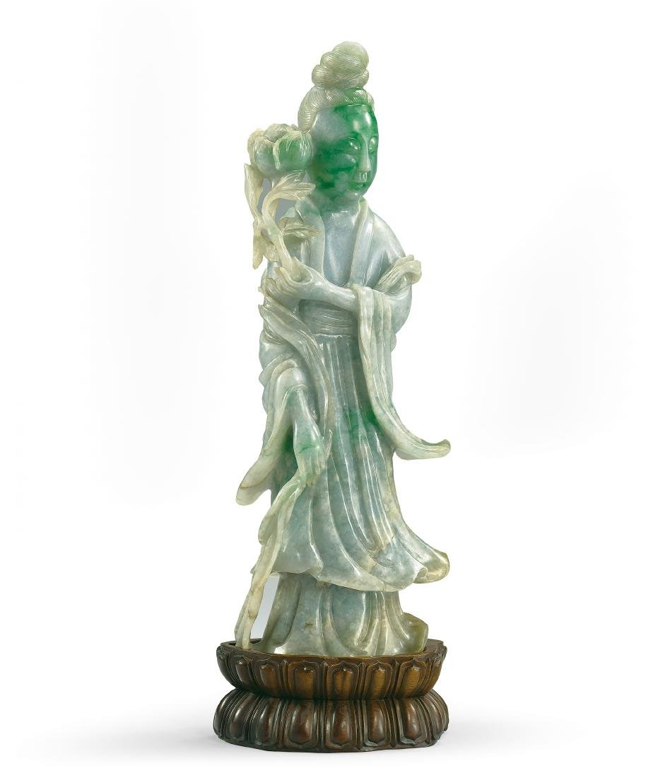 A Large Jadeite Figure of a Lady 19th Century