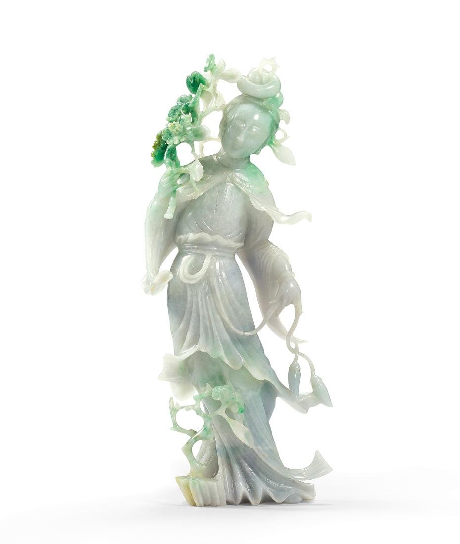 A Jadeite Figure of a Lady 19th Century
