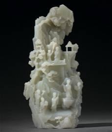 A Massive White Jade Mountain Boulder, Qianlong Period