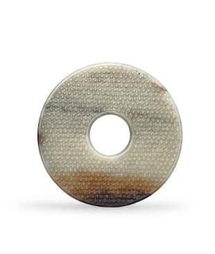 A White Jade 'Bi' Disc, Han Dynasty