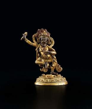 A Gilt-Bronze Figure of Vajravarahi, 18c.