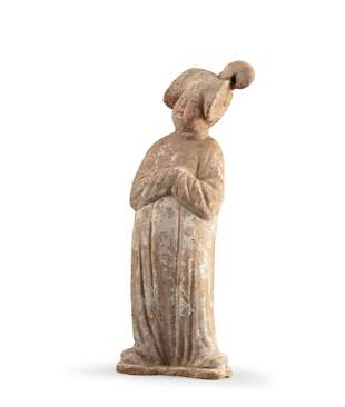 A Pottery Figure of A Lady, Tang Dynasty
