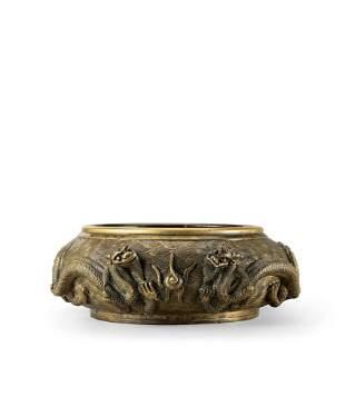 A Bronze 'Dragon' Censer, Qing Dynasty