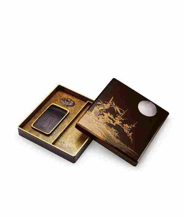 A Togidashi Maki-E Suzuribako (Writing Box), Meiji