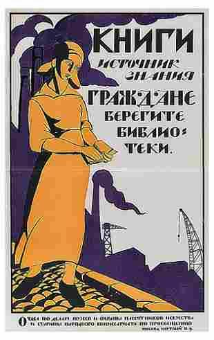 KUPREYANOV, N. Books are a source of knowledge, 1919