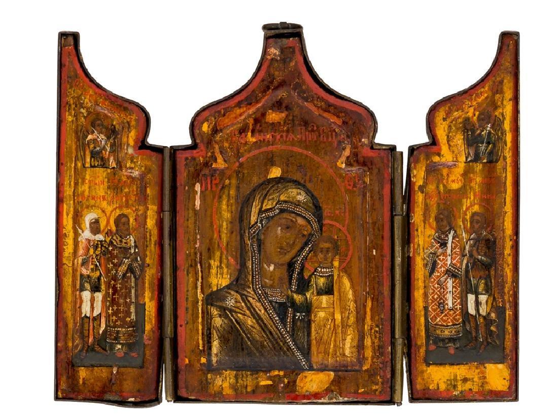 *Mother of God Kasanskaya Russian Triptych, 1st half