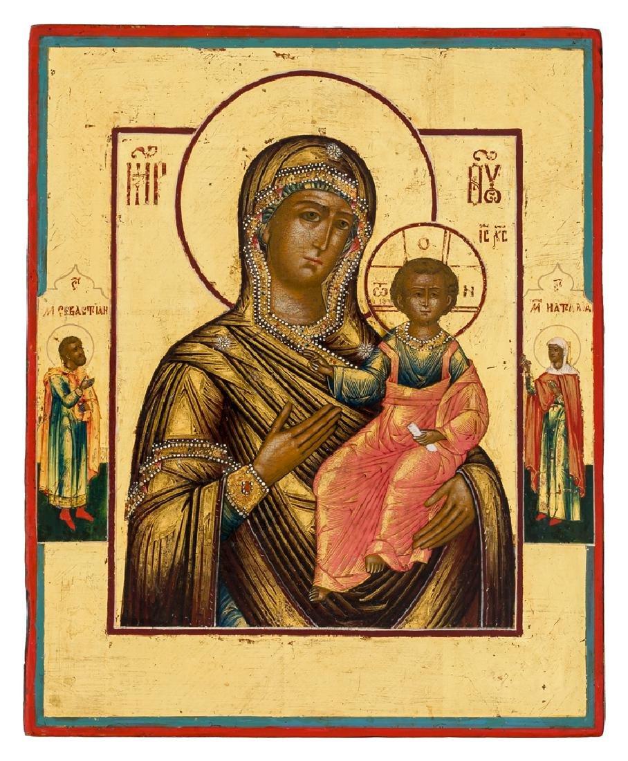 *Mother of God Smolenskaya Russian icon, 1st half 19th