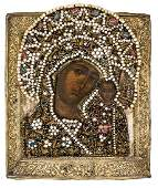 *Mother of God Kasanskaya Russian icon, early 18th c.,