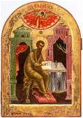 Large and finepainted Russian icon 19th c