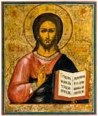 Christ Pantokrator Large Russian icon 19th c
