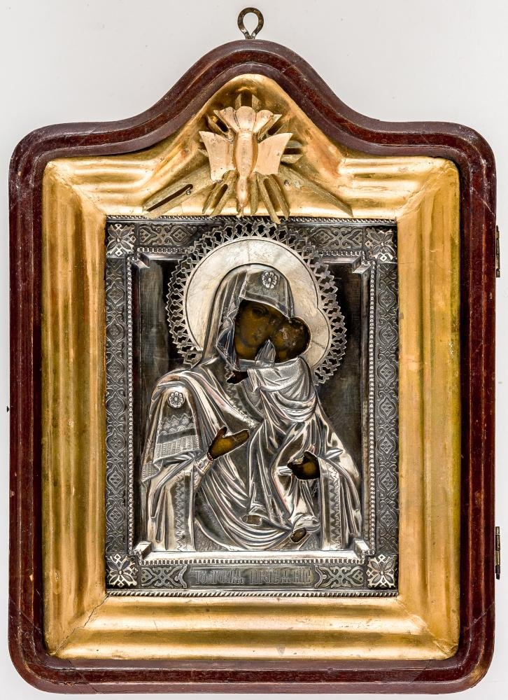 Icon of the Mother of God Tolgskaya with silver oklad