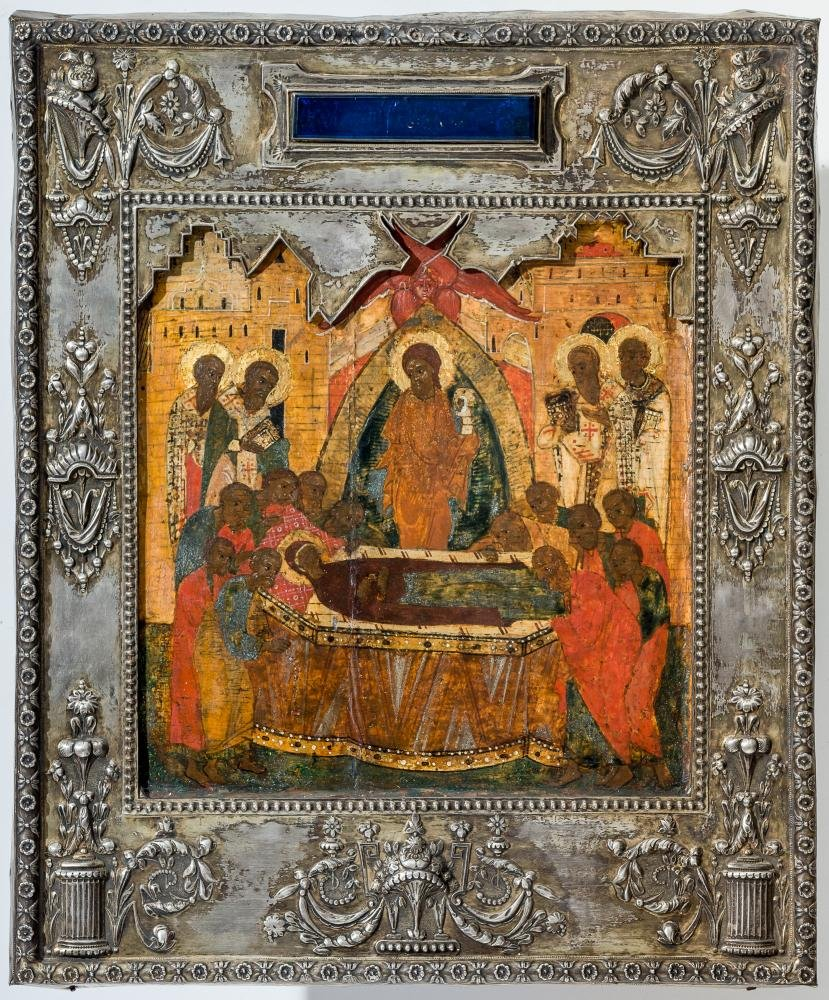 Museum icon of the Dormition of the Mother of God, 16th