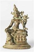 The goddess Sarasvati, Bronze, according to the