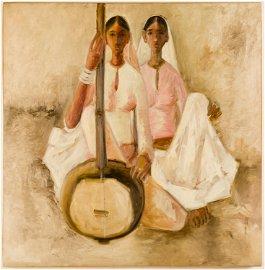 B. PRABHA (1933-2001), Two sisters with sitar
