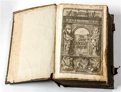 THE PISCATOR BIBLE Bern 1728 Folio 39 x 12 x