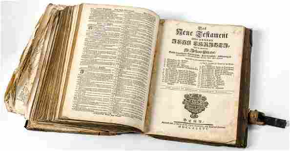 THE PISCATORBIBLE Bern 1736 38 x 11 x 26 cm