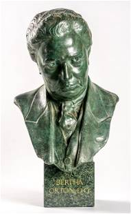 UNKNOWN ARTIST Bust Bertha Orton metall and