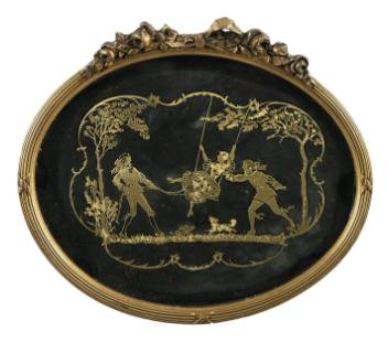 A CUTOUT SHOWING A GALANT SCENE probably early