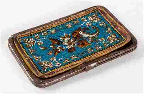 A CASE WITH PEARL EMBOIDERY probably around