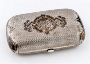 A RUSSIAN SILVER CIGARETTE CASE