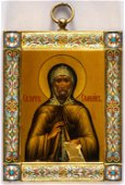 EXTREMELY FINE PAINTED RUSSIAN ICON ON METAL WITH