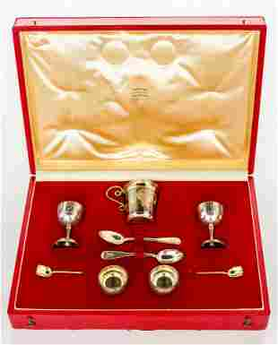 SILVER SET FOR WEDDING CEREMONY WITH A VERY NICE NIELLO