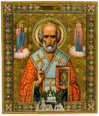 RARE AND VERY FINE PAINTED RUSSIAN GOLDGROUND ICON