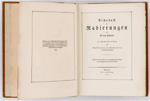 ALMANACH VON RADIERUNGEN VON M. VON SCHWIND