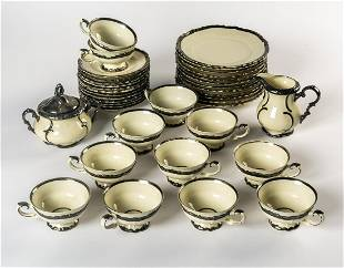 A PORCELAIN COFFEE SERVICE FOR 12 PEOPLE