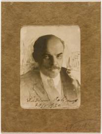 A VERY RARE SIGNED PHOTO OF LENIN