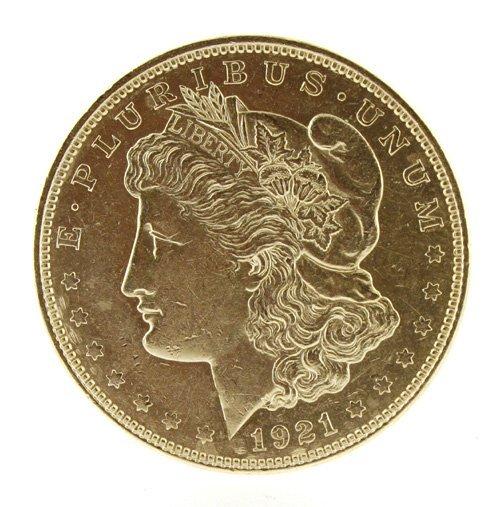 5019: 1921    Eagle Silver Dollar