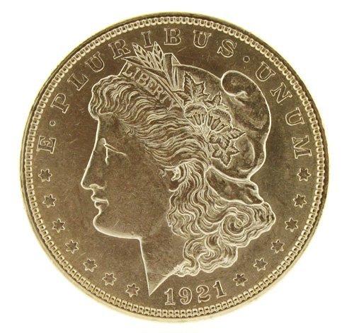 5023: 1921    Eagle Silver Dollar