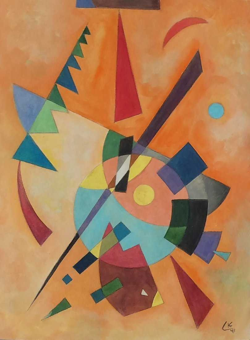Painting: Attributed to Wassily Kandinsky (Russian