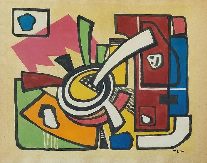 Painting: Attributed to Joseph Fernand Leger (French