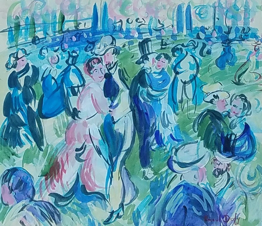 Painting: Attributed to Raoul Dufy (French, 1877-1953)