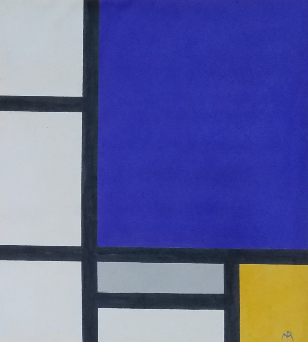 Painting: Attributed to Piet Mondrian (Dutch,