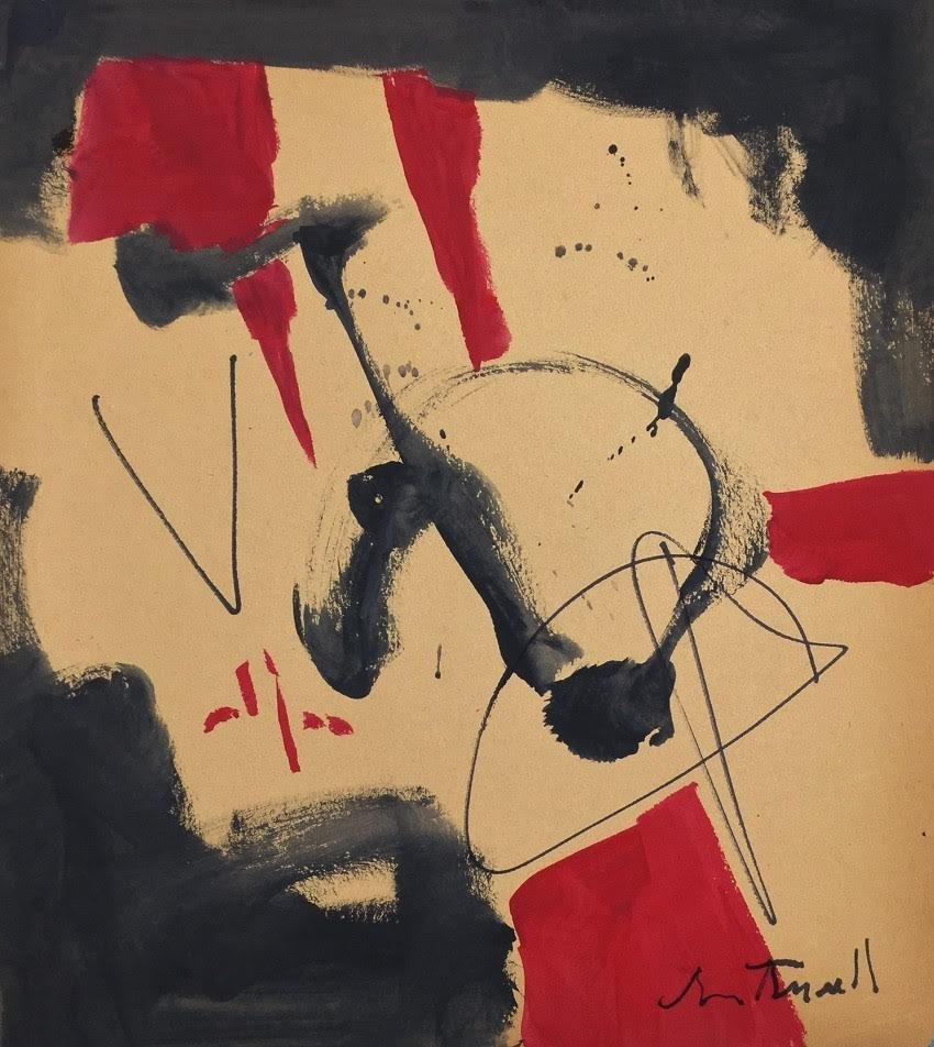 Painting: Attributed to ROBERT MOTHERWELL (American,