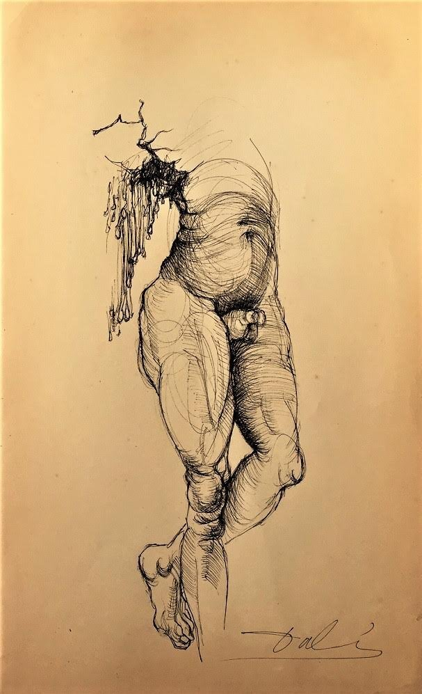 Drawing: Attributed to: SALVADOR DALI (Spanish,