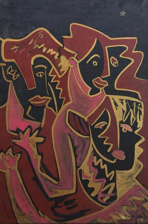 Painting: Attributed to: ERNST LUDWIG KIRCHNER
