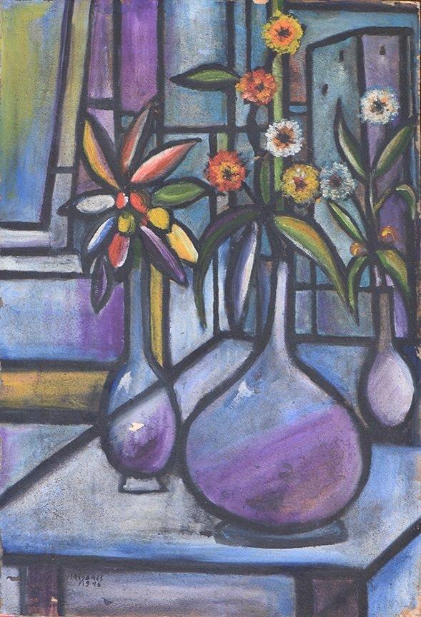 Painting by JOSE M. MIJARES (Cuban, 1921 - 2004),