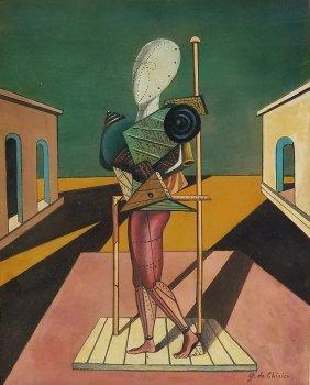 Painting: Attributed to: GIORGIO DE CHIRICO (Italian,